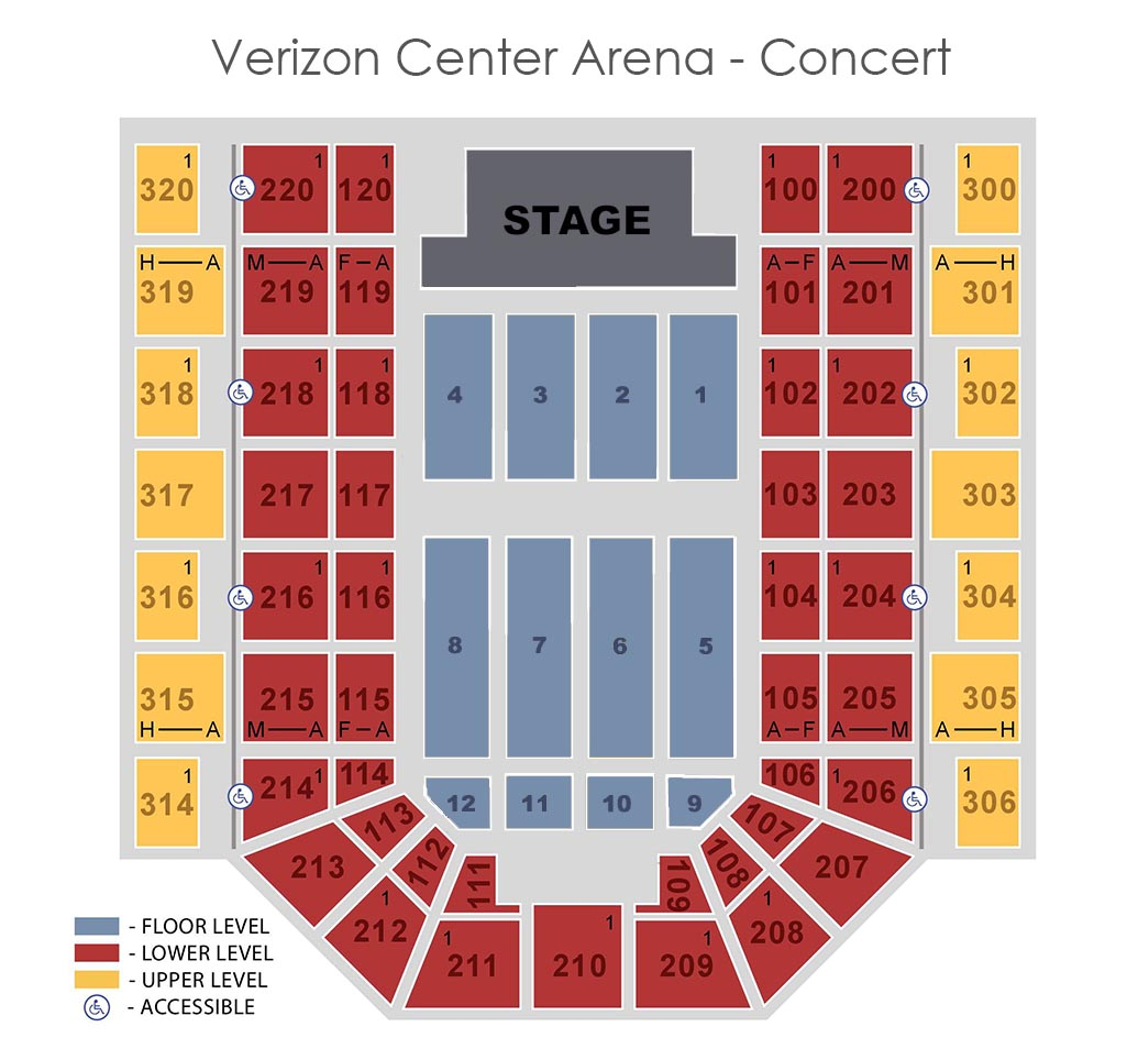 Seat Locator Verizon Center