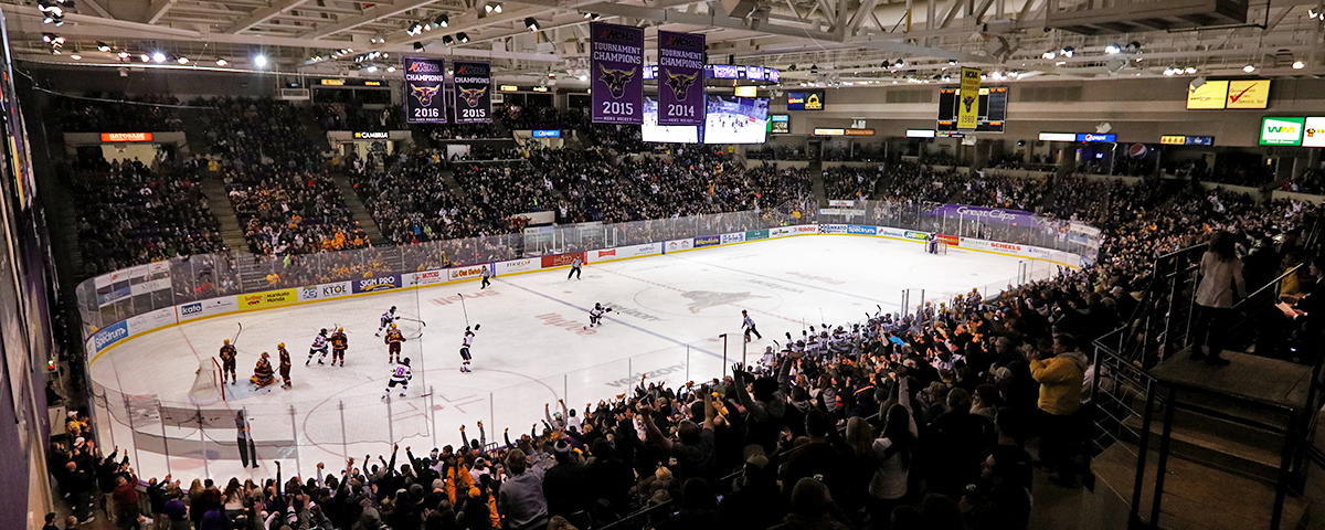 Mankato State Campus Map.Minnesota State University Mankato Maverick Hockey Verizon Center